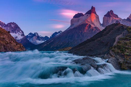 Фото бесплатно река, гора, природа