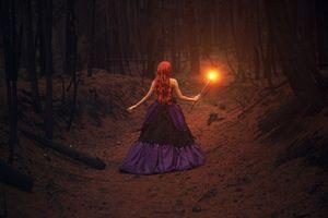 Фото бесплатно лес, тьма, девушка