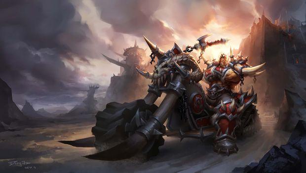 Бесплатные фото цифровое искусство,произведения искусства,видеоигры,Warcraft,World of Warcraft,Orc,motorcycle