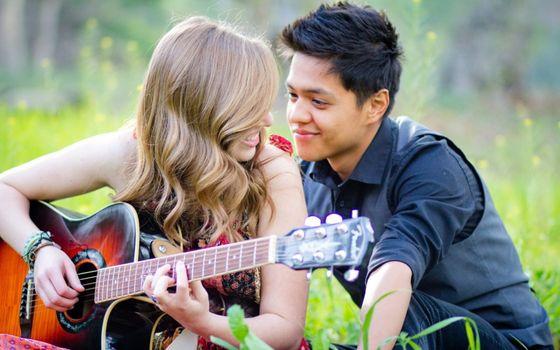 Photo free flirt, girl, guitar