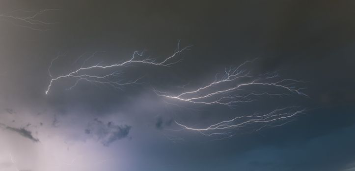 Фото бесплатно молния, ночь, небо