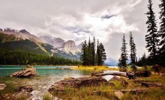 Фото бесплатно Канада, национальный парк Джаспер, небо