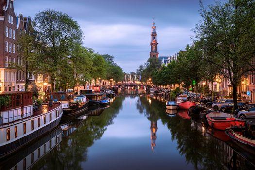 Фото бесплатно Вестеркеркская колокольня, Джордан, Амстердам