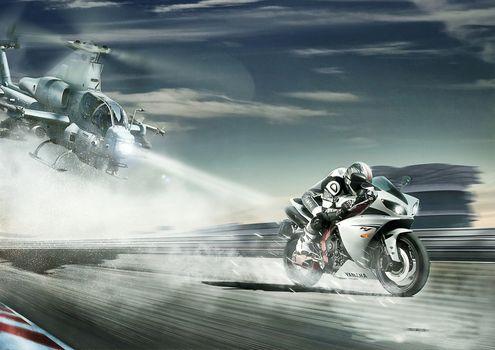 Фото бесплатно Yamaha R1, байк, скорость