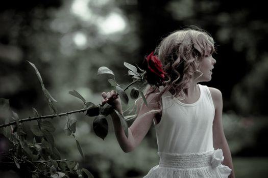 Photo free beautiful, brunette, child
