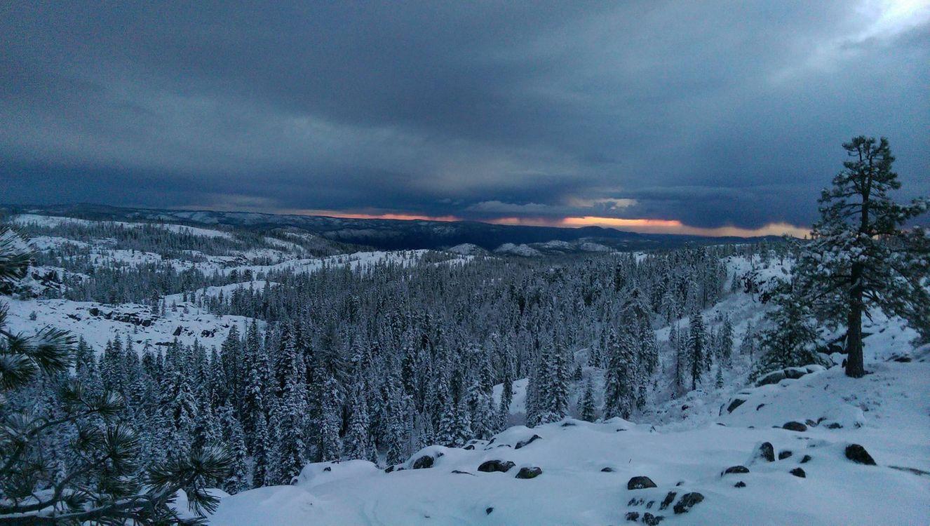 Фото бесплатно Снег в предгорьях Сьерра-Невады, зима, снег - на рабочий стол