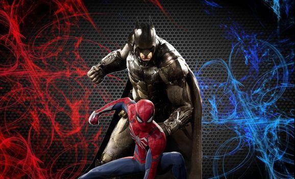 Фото бесплатно Человек-Паук, Бэтмен, Обложка