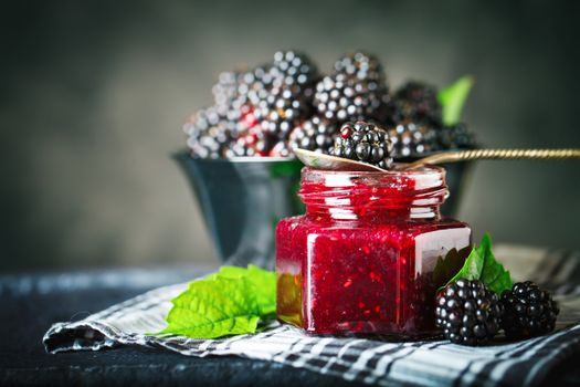 Jam made of blackberry · free photo