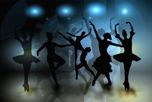 Бесплатные фото балет,танцоры,женщина,силуэты,танец,хореография,движение,грация,art