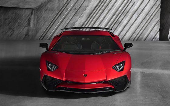 Photo free Lamborghini Aventador, cherry, bright