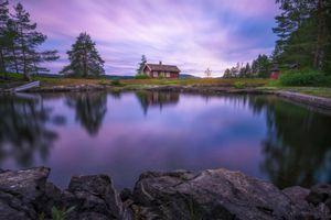 Фото бесплатно дом, Ringerike, деревья