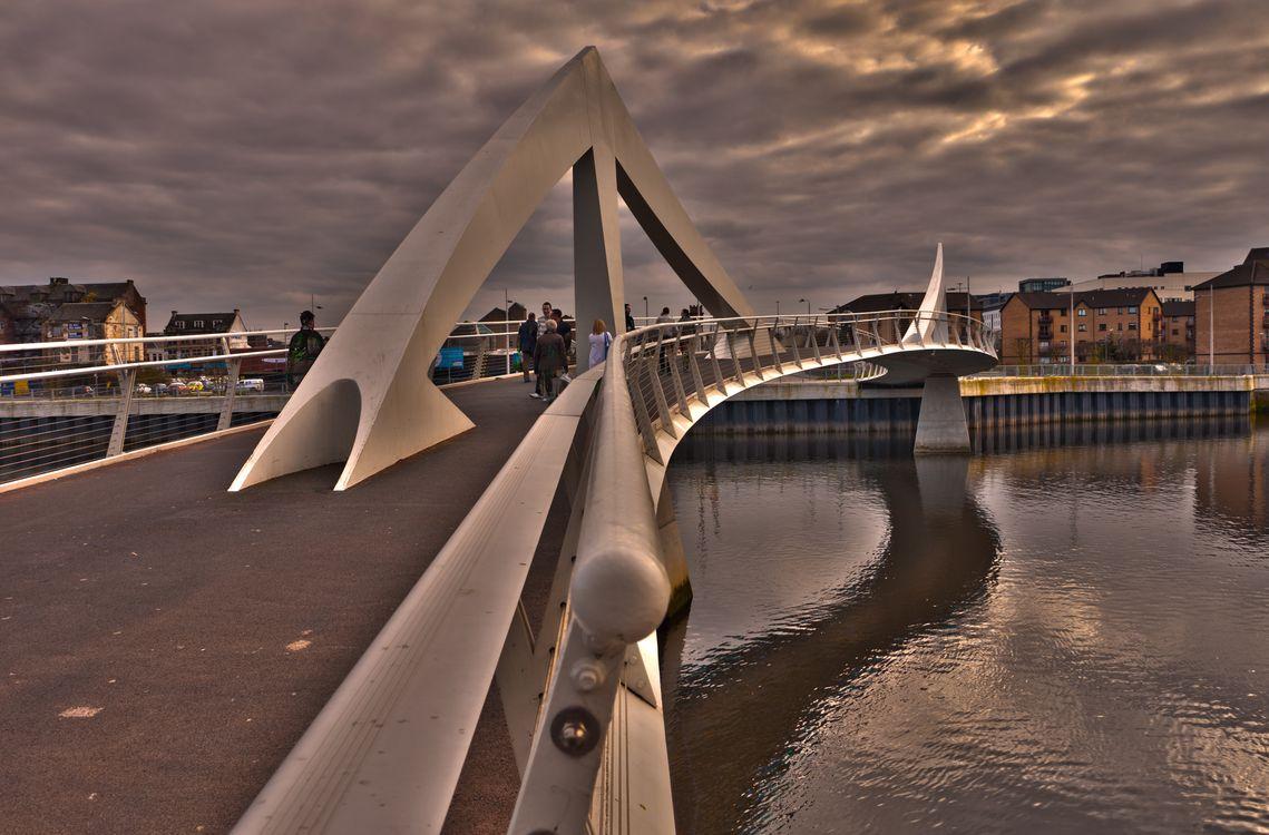 Фото бесплатно Tradeston Bridge, Glasgow, Scotland, город