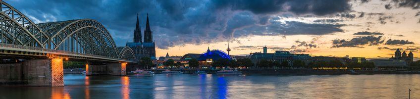 Фото бесплатно Кёльн, Германия, панорама, город
