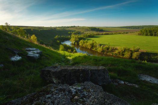 Фото бесплатно пруд, небо, луг