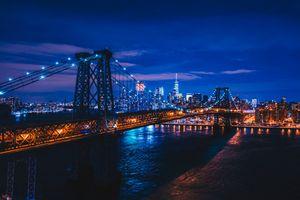 Фото бесплатно Вильямсбург, мост, Нью-Йорк