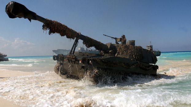 Бесплатные фото M109 Haubitze,танк,САУ,самоходная артиллерийская установка,США
