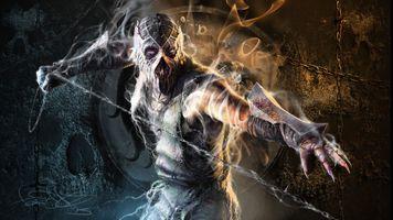 Фото бесплатно мортал комбат, персонаж скорпиона, компьютерные игры