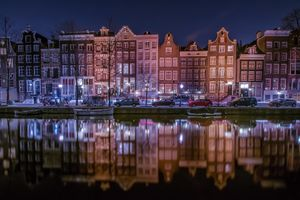 Photo free lights, Amsterdam, night