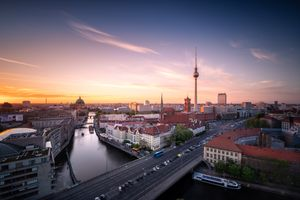 Вид Берлина с квадрокоптера · бесплатное фото