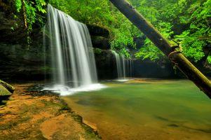 Фото бесплатно Caney Falls, водопад, скалы