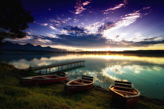 Фото бесплатно Форггензе водохранилище, Бавария, Германия