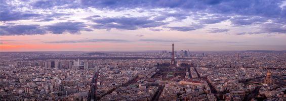Заставки Paris, рассвет, панорама