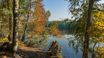 Фото бесплатно природа, осень, озеро