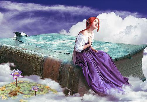Бесплатные фото произведение искусства,фантазии искусство,женщины,рыжие
