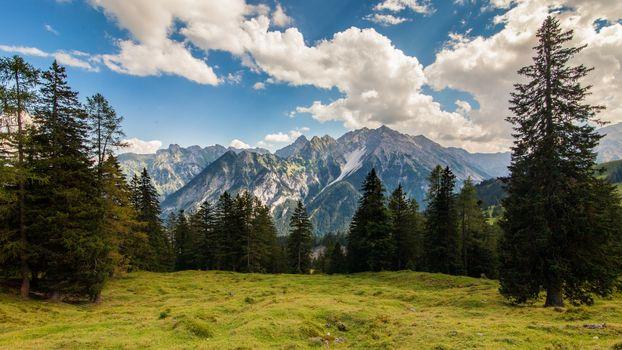 Вид на далёкие вершины · бесплатное фото