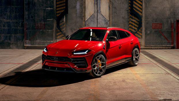 Photo free novitec Lamborghini Urus, red, cars