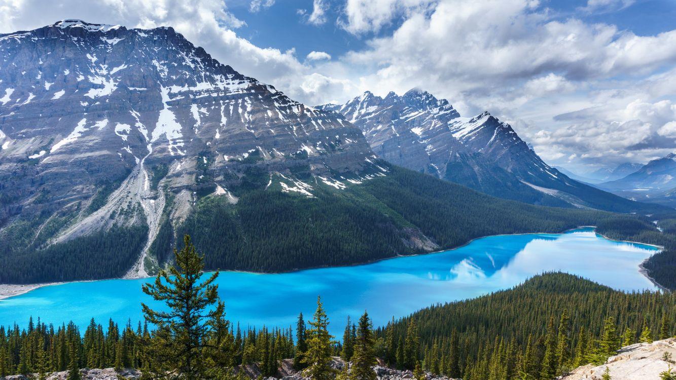 Красивое чистое озеро в Пейто Канада · бесплатное фото