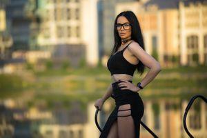 Фото бесплатно девушка, очки, горячая