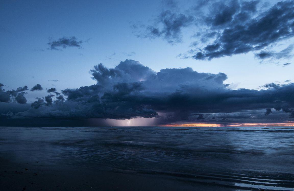 Облака - молния · бесплатная заставка