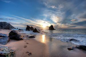 Фото бесплатно волны, пляж Adraga, Лиссабон