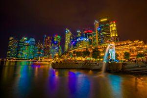 Фото бесплатно иллюминация, ночной город, гордый