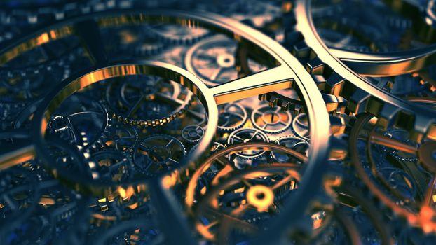 Photo free gears, clockwork, mechanical