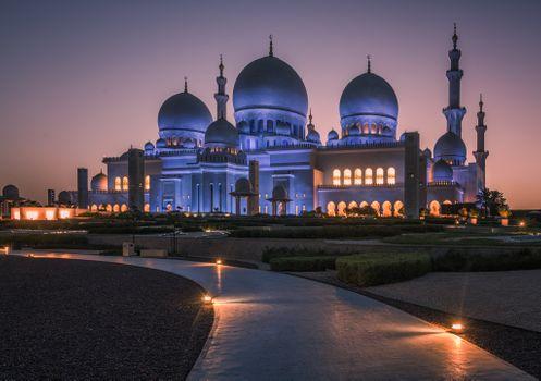 Фото бесплатно Даби, Большая Мечеть Шейха Зайда - Абу-Даби, Объединенные Арабские Эмираты