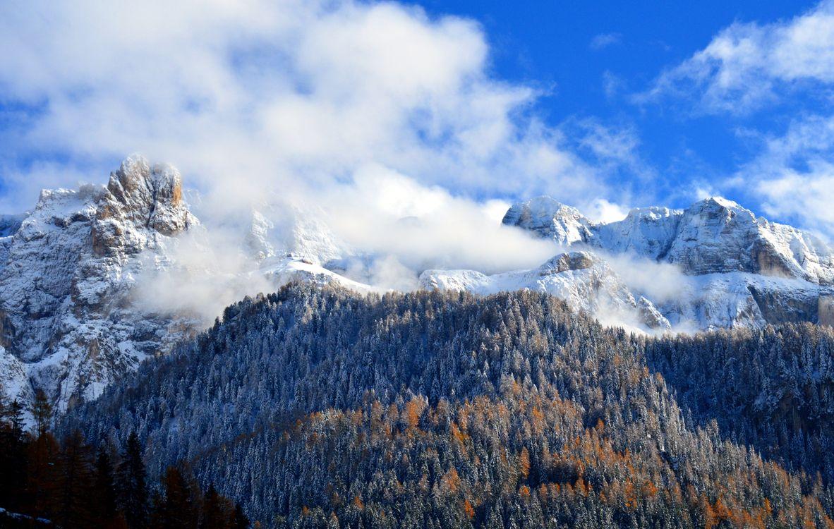 Фото бесплатно снег, гора, панорама, природа, доломиты, sella, юг, тироль, альпы, пейзаж, ассортимент, атмосфера, предусмотрительность, посмотреть, небо, зима, пейзажи - скачать на рабочий стол