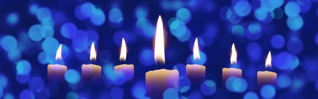 Заставки свечи, боке, медитация