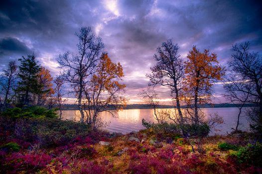 Заставки осень, Finland, закат