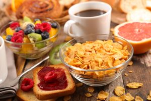Заставки завтрак, хлопья, ягоды, кофе
