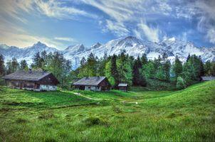 Фото бесплатно Alpine wonderland, Альпы, Франция