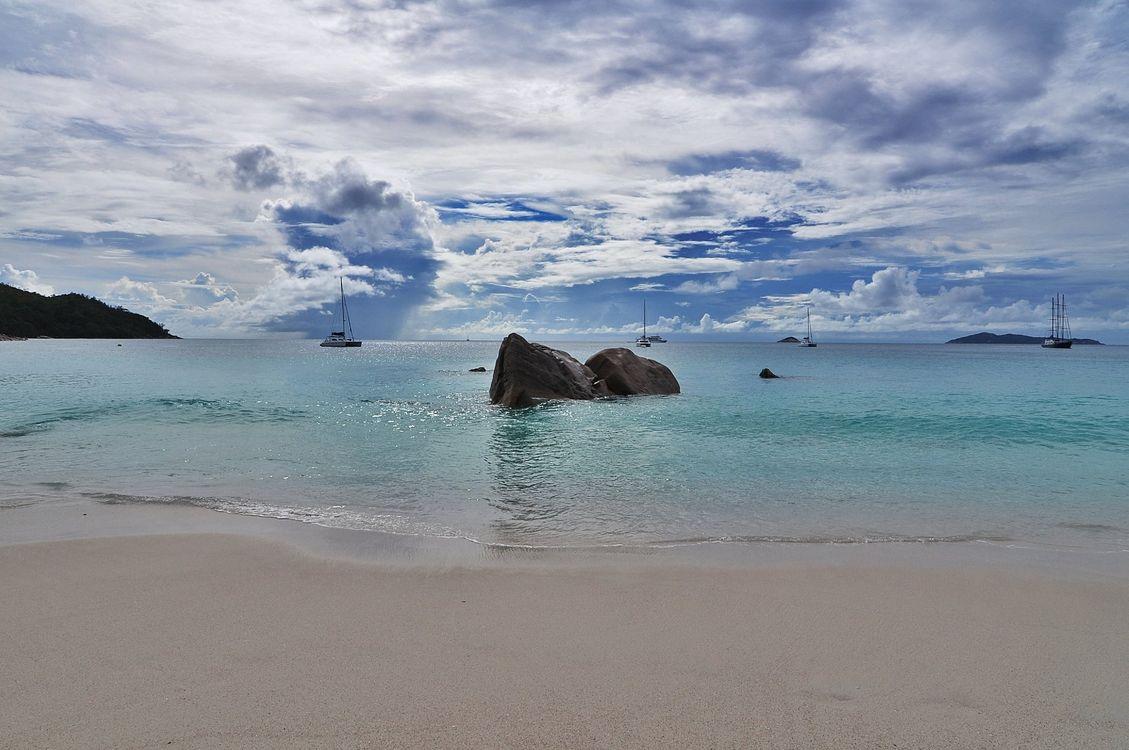 Обои Сейшельские острова море, пляж, берег картинки на телефон