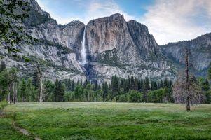 Заставки Йосемитский водопад, Йосемитская долина, Йосемитский национальный парк США