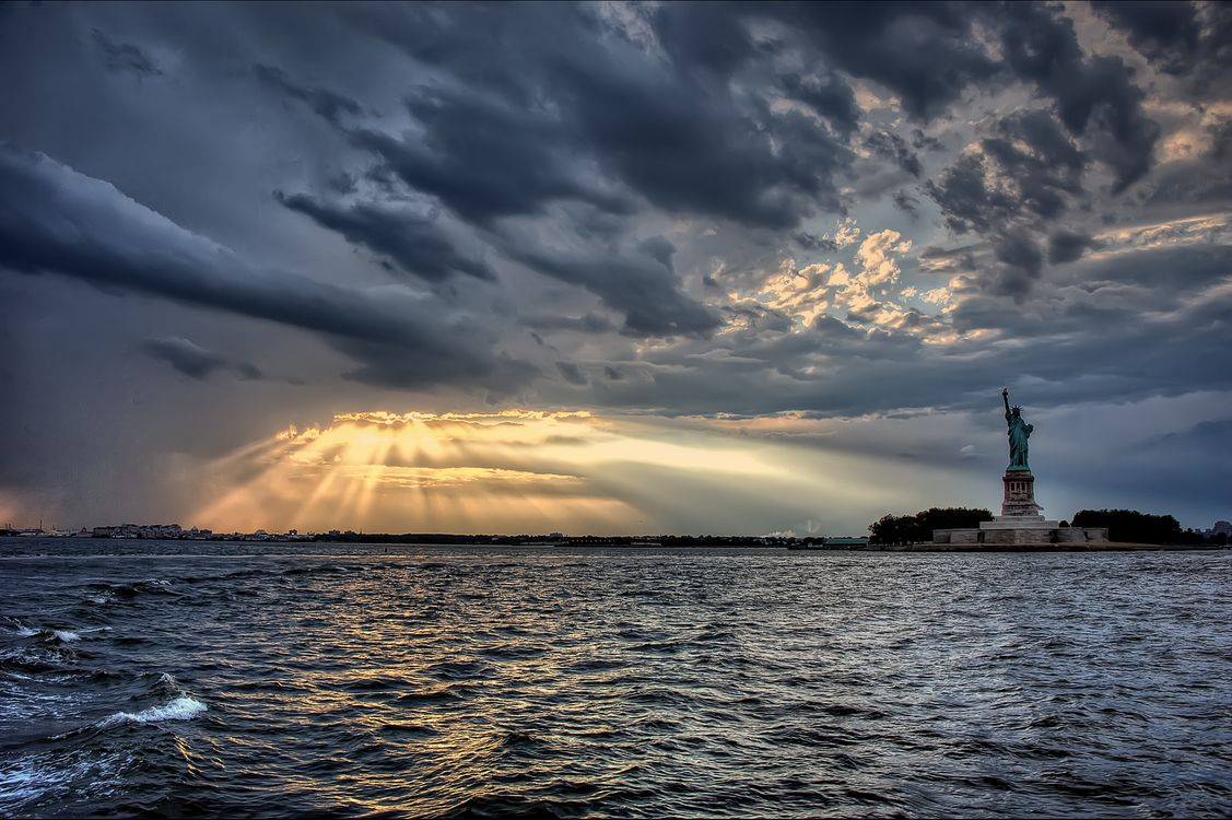 Фото бесплатно Статуя Свободы, Нью-Йорк, США, город
