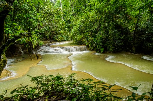 Фото бесплатно Kuang Si Waterfalls, Laos, водопад