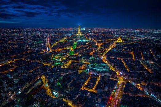Фото бесплатно ночь, Eiffel tower, город