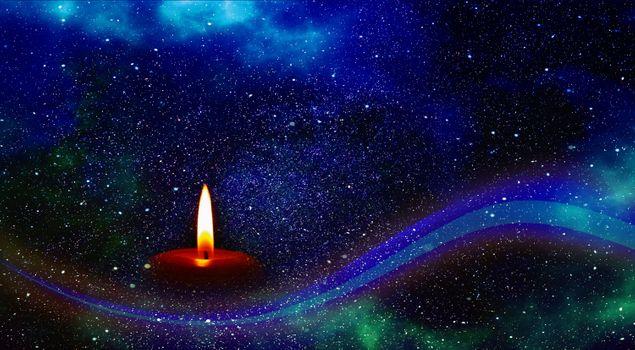 Фото бесплатно свеча, звезда, вселенная