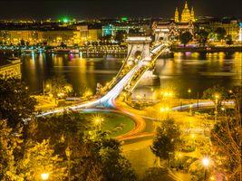 Вечерний мост в Будапеште
