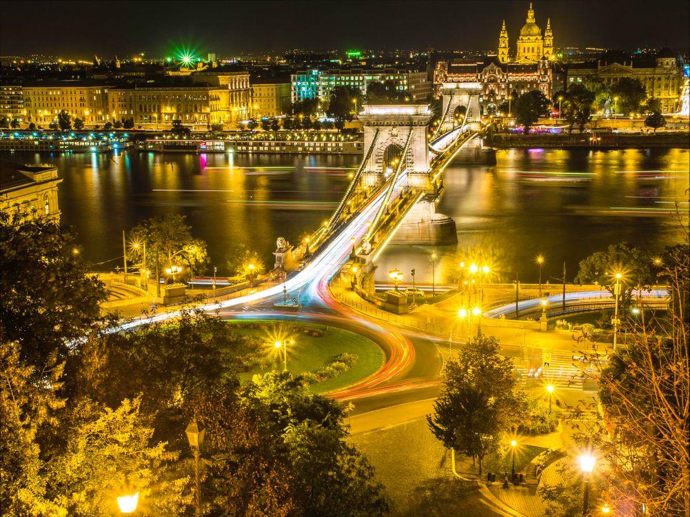 Вечерний мост в Будапеште · бесплатное фото